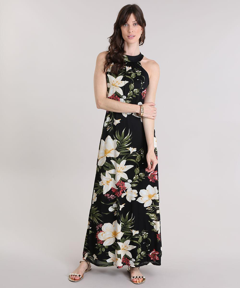 Vestido longo lojas c&a