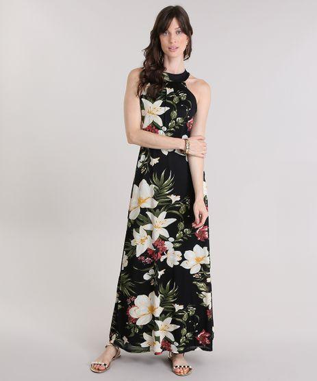 Vestido-Longo-Estampado-Floral-Preto-8915219-Preto_1