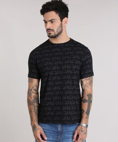 Camiseta-Estampada-de-Andorinhas-Preta-8959017-Preto_1