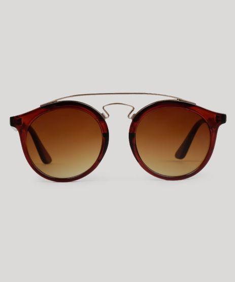 Oculos-de-Sol-Redondo-Feminino-Oneself-Marrom-9056748-Marrom_1