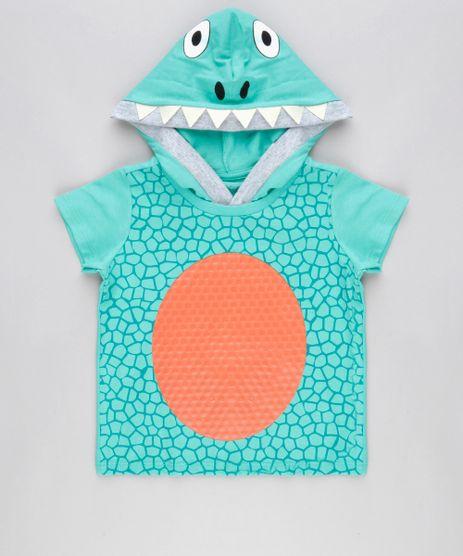 Camiseta-Estampada-Dinossauro-com-Capuz-em-Algodao---Sustentavel-Verde-Agua-9016683-Verde_Agua_1