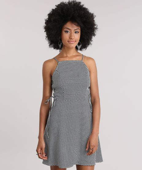 Vestido-Xadrez-com-Lace-Up-Off-White-8834375-Off_White_1
