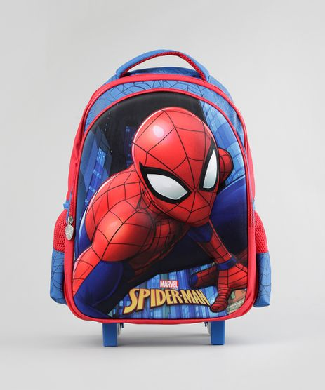 Mochila-Escolar-Infantil-Homem-Aranha-com-Rodinhas-3D-Azul-Royal-8744896-Azul_Royal_1