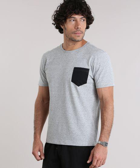 Camiseta-com-Bolso-Contrastante-Cinza-Mescla-9047850-Cinza_Mescla_1