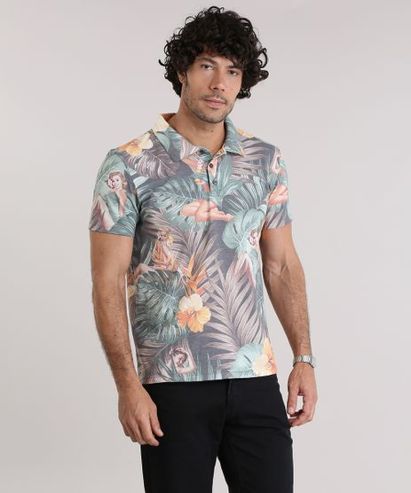 Polo-em-Piquet-Estampada-Tropical-Verde-8972052-Verde_1