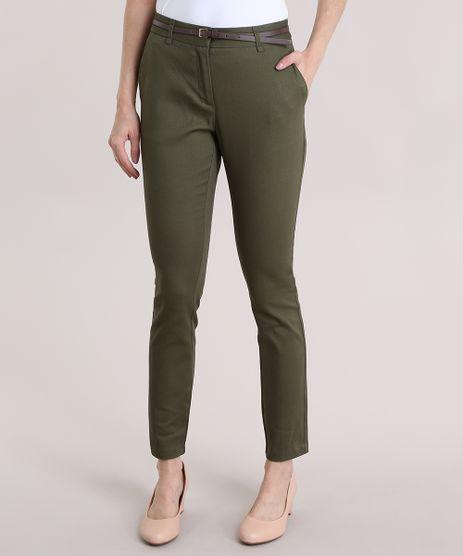 Calca-Skinny-em-Piquet-com-Cinto-Verde-Militar-8654154-Verde_Militar_1