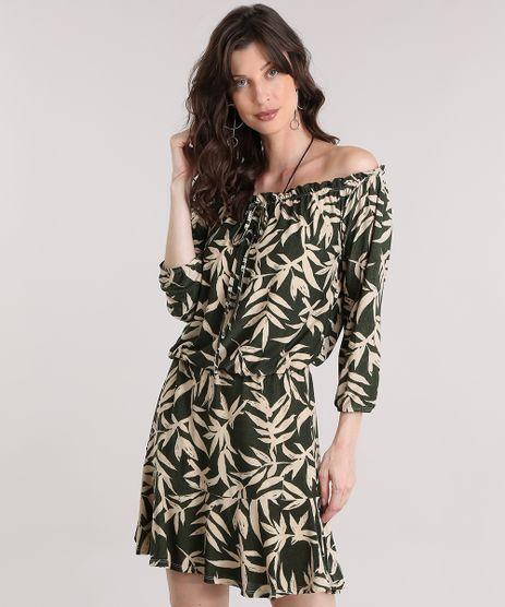 Vestido-Ombro-a-Ombro-Estampado-de-Folhagem-Verde-9013537-Verde_1