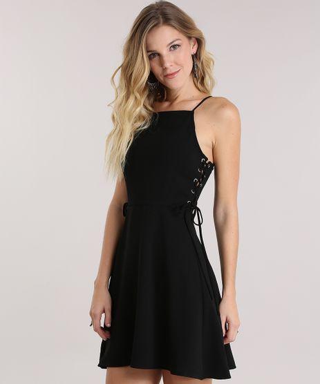 Vestido-com-Lace-Up-Preto-8834376-Preto_1