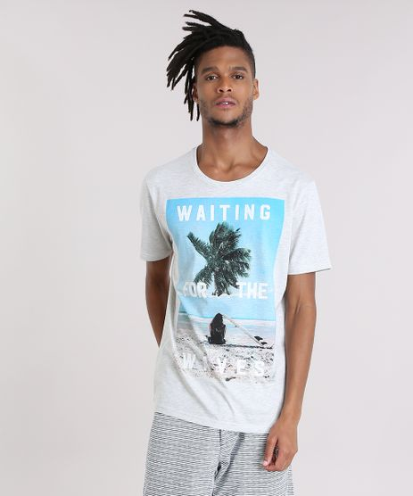 Camiseta--Waiting-For-The-Waves--Cinza-Mescla-Claro-8907400-Cinza_Mescla_Claro_1