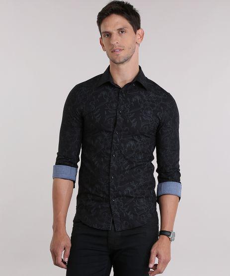 Camisa-Slim-Estampada-Floral-Preta-8830949-Preto_1