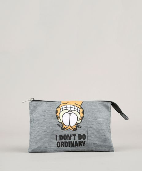 Necessaire-Garfield--I-Don-t-Do-Ordinary--Cinza-Mescla-9008148-Cinza_Mescla_1