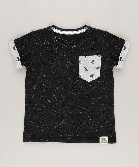 Camiseta-Botone-com-Bolso-Estampado-de--Taxi--Preta-9036793-Preto_1
