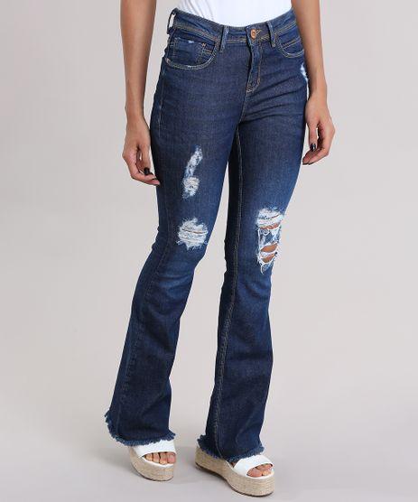 Calca-Jeans-Flare-Destroyed-Azul-Escuro-8997181-Azul_Escuro_1