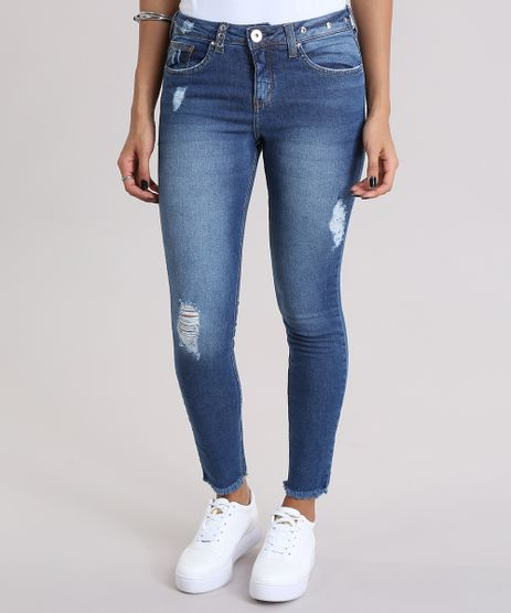 Calca-Jeans-Cigarrete-com-Ilhoses-Azul-Medio-8997182-Azul_Medio_1
