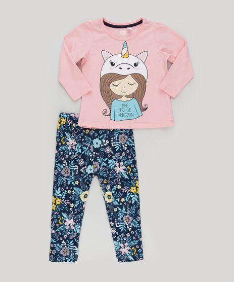 Conjunto-de-Blusa-Unicornio-Rosa---Calca-Legging-Estampada-Floral-Azul-Marinho-9031768-Azul_Marinho_1