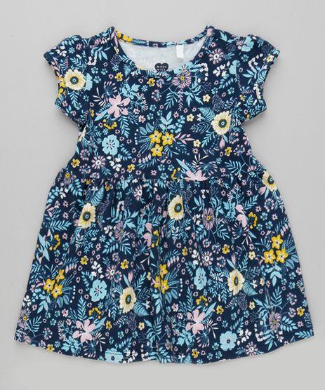 Vestido-Estampado-Floral-em-Algodao---Sustentavel-Azul-Marinho-9029956-Azul_Marinho_1