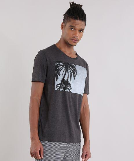 Camiseta-com-Estampa-de-Coqueiro-Cinza-Mescla-Escuro-8907463-Cinza_Mescla_Escuro_1