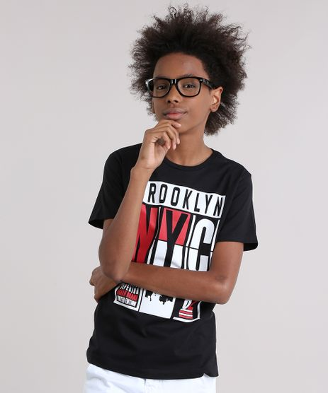 Camiseta--Brooklyn-NYC--em-Algodao---Sustentavel-Preta-9038056-Preto_1
