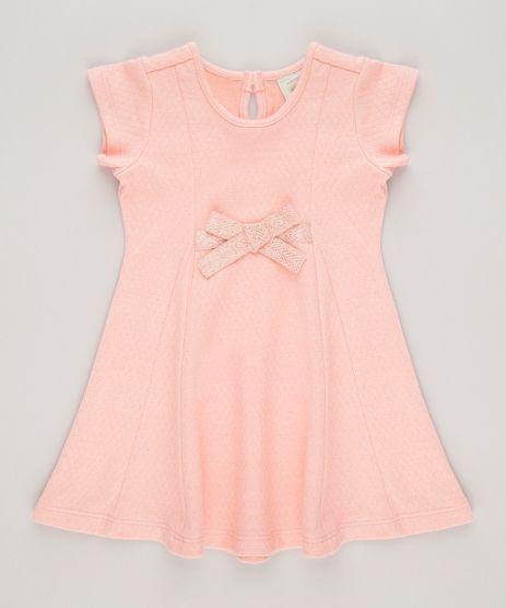Vestido-Texturizado-com-Laco-Coral-9040782-Coral_1