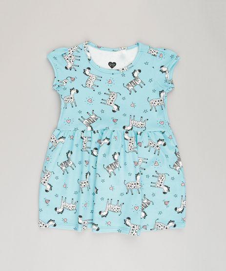 Vestido-Estampado-de-Zebra-em-Algodao---Sustentavel-Azul-9030816-Azul_1