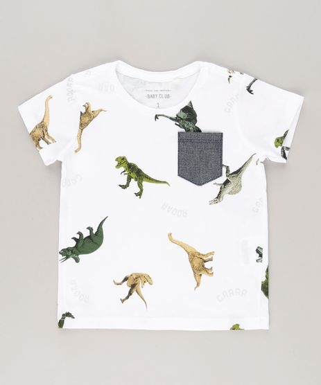 Camiseta-Estampada-de-Dinossauros-em-Algodao---Sustentavel-Off-White-8615022-Off_White_1
