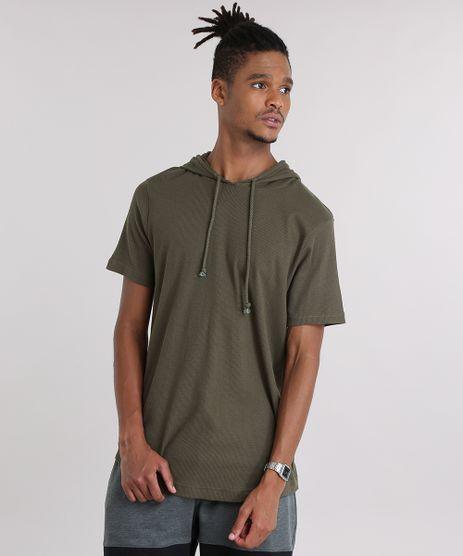 Camiseta-Texturizada-com-Capuz-Verde-Militar-8701871-Verde_Militar_1