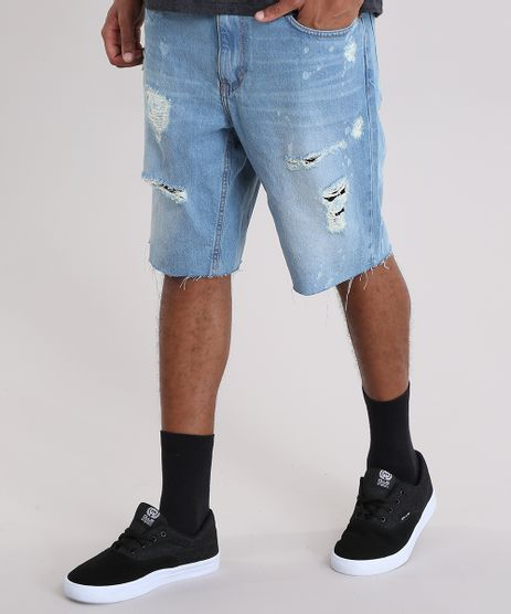 Bermuda-Jeans-Reta-Destroyed-Azul-Claro-8944185-Azul_Claro_1