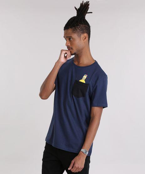 Camiseta-com-Bolso-Os-Simpsons-Azul-Marinho-9035120-Azul_Marinho_1