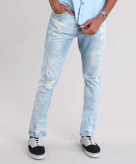 Calca-Jeans-Slim-Comfort-Destroyed-Azul-Claro-8443835-Azul_Claro_1