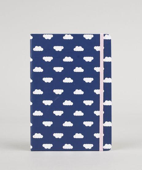 Caderno-Estampado-de-Nuvens-sem-Pauta-21cm-x-14-cm-Azul-Marinho-9088673-Azul_Marinho_1