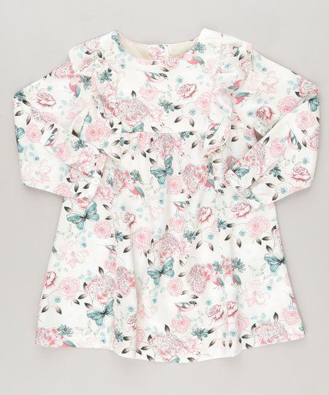 Vestido-Estampado-Floral-com-Babado-Bege-Claro-8859329-Bege_Claro_1