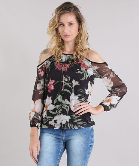 Blusa-Open-Shoulder-em-Tule-Estampada-Floral-Preta-8960702-Preto_1