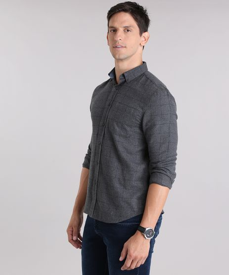 Camisa-Estampada-Geometrica-em-Flanela-Chumbo-8841738-Chumbo_1