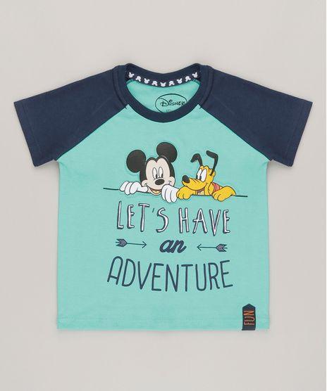 Camiseta-Mickey-e-Pluto-em-Algodao---Sustentavel-Verde-8299004-Verde_1