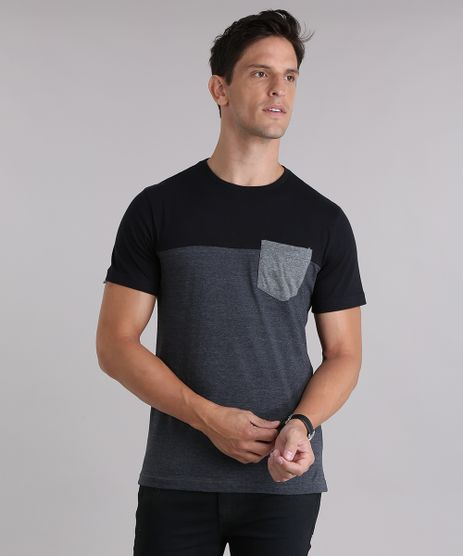 Camiseta-com-Bolso-Cinza-Mescla-Escuro-8460361-Cinza_Mescla_Escuro_1