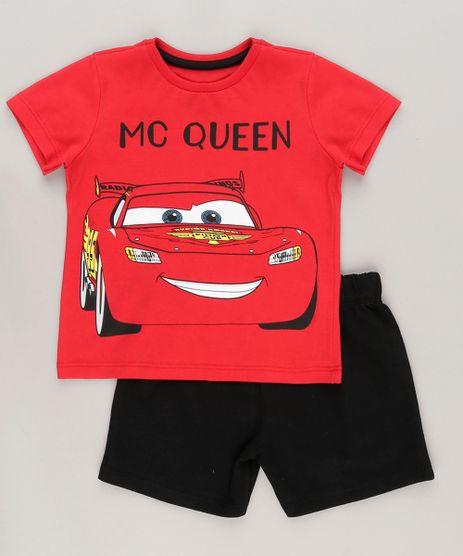 Conjunto-de-Camiseta-Vermelha---Bermuda-Carros-Preta-8664325-Preto_1