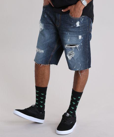 Bermuda-Jeans-Reta-Destroyed-Azul-Escuro-Azul-Escuro-8944186-Azul_Escuro_1