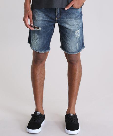 Bermuda-Jeans-Reta-Destroyed-Azul-Escuro-Azul-Escuro-8932718-Azul_Escuro_1