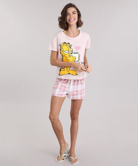 Pijama-Garfield-Rosa-Claro-8954394-Rosa_Claro_1