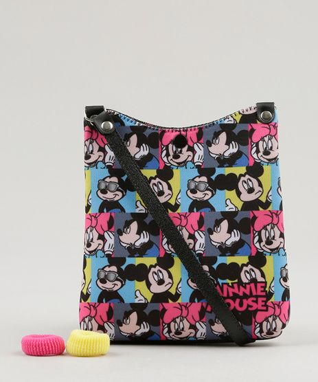 Bolsa-Estampada-Minnie-e-Mickey---elastico-de-cabelo-Preta-9060648-Preto_1