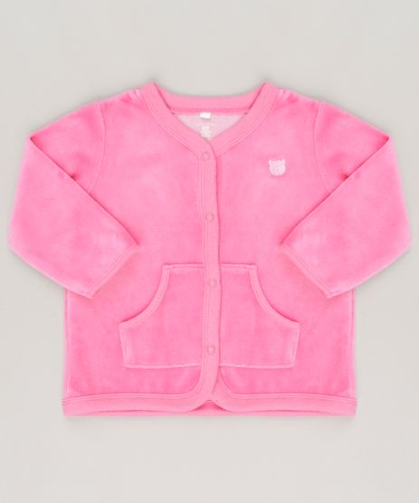 Cardigan-em-plush-de-algodao---sustentavel-Pink-8859159-Pink_1