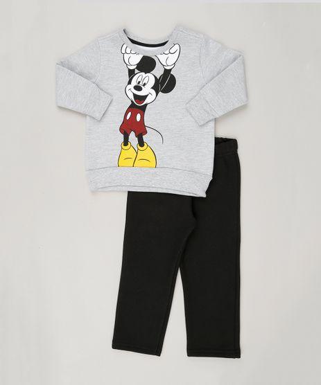 Conjunto-Mickey-de-Blusao-Cinza-Mescla---Calca-em-Moletom-Preta-8611716-Preto_1