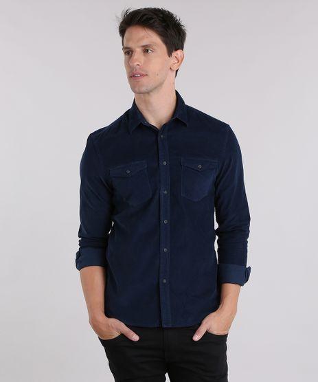 Camisa-Comfort-em-Veludo-Cotele-Azul-Marinho-8841853-Azul_Marinho_1