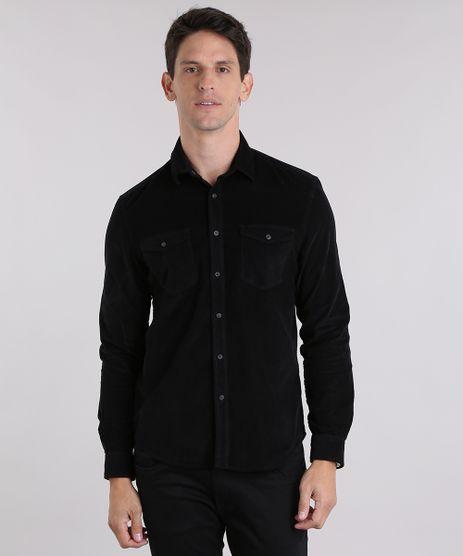 Camisa-Comfort-em-Veludo-Cotele-Preto-8841853-Preto_1