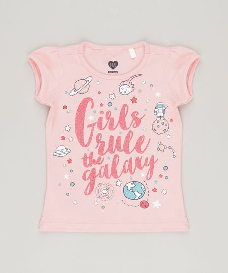Blusa--Girls-Rule-The-Galaxy--com-Glitter-em-Algodao---Sustentavel-Rosa-9034412-Rosa_1