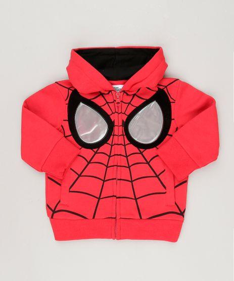 Blusao-Homem-Aranha-em-Moletom-com-Capuz-em-Algodao---Sustentavel-Vermelho-8836946-Vermelho_1