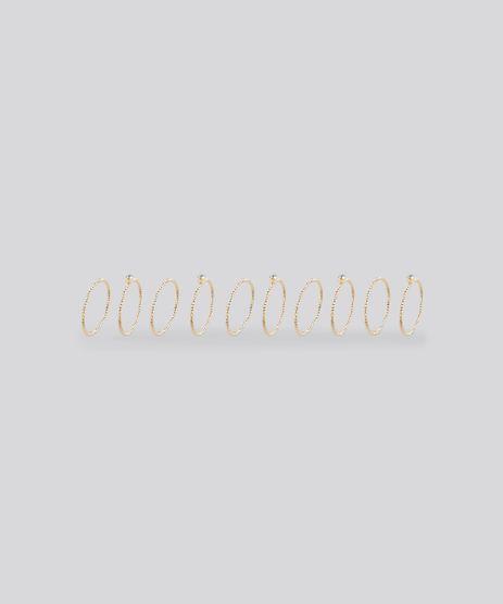 Kit-de-10-Aneis-Texturizados-Dourado-8839011-Dourado_1