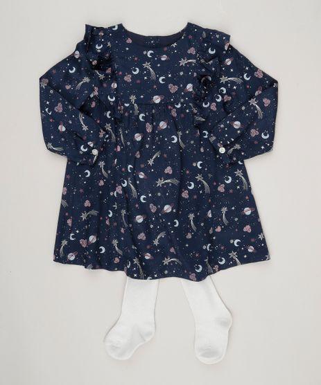 Vestido-Estampado-de-Estrelas---Meia-Calca-Azul-Marinho-8859335-Azul_Marinho_1