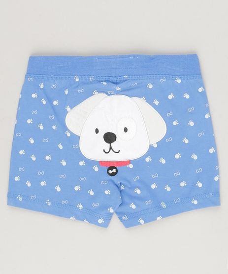 Short-Cachorrinho-Estampado-em-Algodao---Sustentavel-Azul-8803091-Azul_1