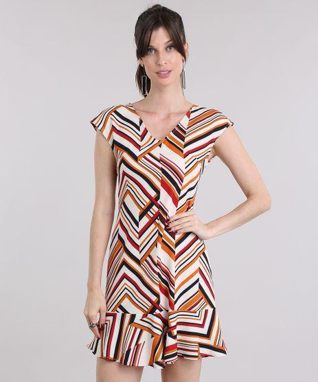 Vestido-Feminino-Estampado-Geometrico-Curto-com-Babado-Off-White-9022342-Off_White_1